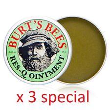 Burt's Bee Res-Q ointment 15g/0.60 oz x 3 SPECIAL lavender oil vitamin E