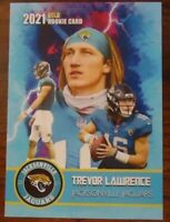 TREVOR LAWRENCE ROOKIE CARD 2021 VERY FIRST EVER GOLD ROOKIE GEMS JAGUARS!