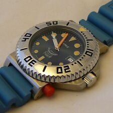 watch Squale TIGER 064 VINTAGE  300mt - blue dial, blue rubber strap