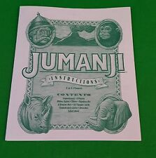 MB Jumanji Board Game Instructions Only Great Condition Parts