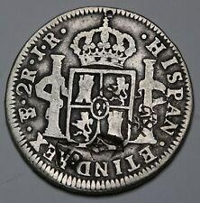 1774 PTS JR Bolivia Silver 2 Reales Carlos III KM# 53 + Chinese Chopmarks RARE