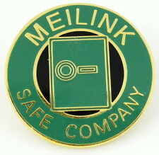 Meilink Safe Company Advertising Lapel Pin Pinback Promotional
