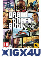 UK Grand Theft Auto V 5 PC Key / GTA 5 V PC Key Digital Download Code EU NEW