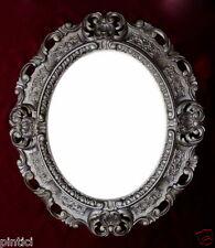 Cadre d'image ARGENT ANCIEN OVALE PHOTO BAROQUE ART NOUVEAU 45x37 vieilli 3045