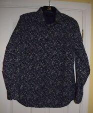 Jeff Banks Navy Blue Purple Beige Floral Shirt Size M BNWOT