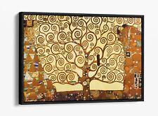 GUSTAV KLIMT THE TREE OF LIFE -FLOAT EFFECT CANVAS WALL ART PIC PRINT- ORANGE