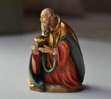 "Anri-Italy-""Kneeling King"" Ulrich Bernardi Nativity 5.75"" scale- gold, crown"