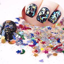 1Box Nail Art Glitter Powder Tips Shiny Shimmer Sequins Manicure Decoration 3ml