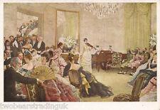 Postcard: James Tissot - The Concert (aka Hush!) (1875) (Manchester Art Gallery)