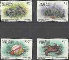 Timbres Faune marine Grenadines St Vincent 374/7 ** lot 20889