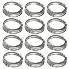 Carbon Steel Screw Bands Rings for Ball, Mason, Canning Jars (Regular, 12 pcs)