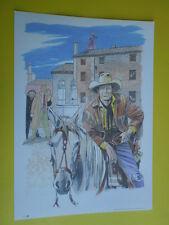 Filippucci, Lucio-litografia n°39-Tex Willer-martin Mystére timbro primo giorno