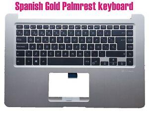 Spanish Gold Palmrest keyboard for Asus X510U F510U S510U K510U R520U