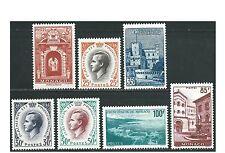 Monaco - 1959 - Rainier et Vues de la Principauté - N°503 à 509 - neufs * - MLH
