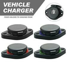 3.1A Dual USB Car Charger LED Adapter DC 12V Power Socket Charging Panel Mount