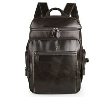 Leather backpack-Laptop bags-Chocolate