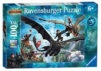 10955 Ravensburger How to Train Your Dragon XXL 100 Piece Jigsaw Puzzle Age 6+