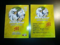 LOT (2) 2009 Mike Trout Millville Highschool  Rookie Phenoms Gold Rookie MINT Rc
