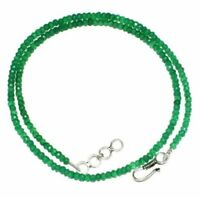 """Natural Green Onyx Gemstone 3-4mm Rondelle Faceted Beads 12-45"""" Strand Necklace"""