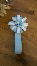 Pram car seat charm boy romany bling blue magnetic can be pink on request