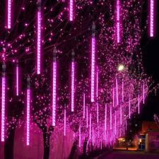 Meteor Shower Rain Lights  Christmas Decoration Tree String Light  (Pink Purple)