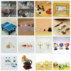 1:12 Dollhouse Play Scenes Miniature Resin Alloy Plastic Mini Decor Toys Gift