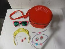 """Vintage Red 8"""" Travel /Doll Case with Accessories  ."""