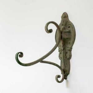 Rustic French Style Weathered Green Wall Hook / Garden Hanging Wall Bracket