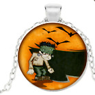 Halloween Harrow Necklace Bat Pendant Spooky  Free Shipping With Gift Box