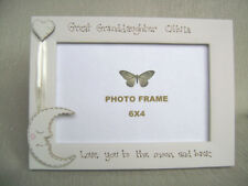 personalised photo frame 6x4 inch.GREAT GRANDAUGHTER  love you to the moon and