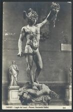 Loggia dei Lanzi Perseo Cellini Florence 1907 Divided Back PC by G.L. Co. UNUSED
