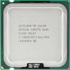 Intel Q6600 | SLACR | Quad Core 2.4GHz | LGA775 | Pate thermique