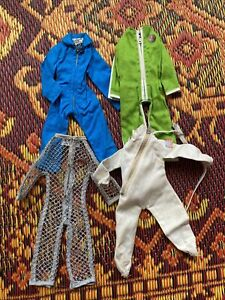 4 Vintage GI Joe Jump Suits-Doll Space & Pilot Clothing