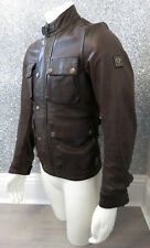 Belstaff BRAD Centaur Malenotti Era Gold Label Brown Leather Jacket Small