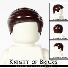LEGO Minifigure Hair DARK BROWN 99930 Male Boy Short Combed Sideways
