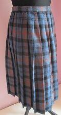 VTG Ladies ST BERNARD Blue Multi Acrylic Mix Winter Skirt Size 10 (Z19)