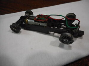Used Vintage Strombecker 1/32 Scale Large Axle Slot Car Chassis w/ Motor