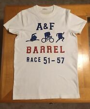 Men's Vintage Abercrombie & Fitch White T-shirt Size Small