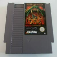 SWORDS AND SERPENTS NINTENDO NES VIDEO GAME CARTRIDGE(TESTED AND WORKING) PAL A