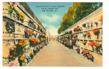 New Orleans, LA   burial vaults at St. Louis Cemetery unused linen type postcard