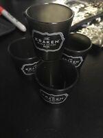 4 Brand New Kraken Spiced Rum Plastic Shot Glasses