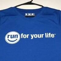 New Balance Womens Activewear Running Shirt Large Run for your life Short Sleeve