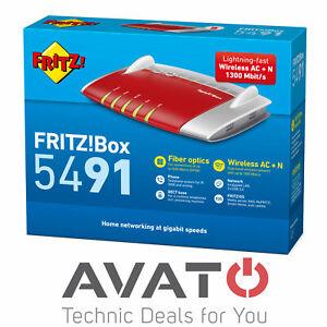 AVM FRITZBox 5491 GPON Glasfaser Modem 4-Port Gigabit MESH WLAN Router *NEUWARE