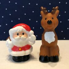 FISHER-PRICE Little People Christmas SANTA & HIS REINDEER