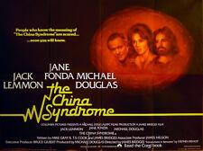 CHINA SYNDROME 1979 Jane Fonda, Jack Lemmon, Michael Douglas UK QUAD POSTER