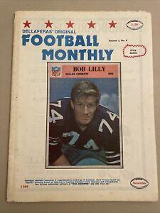Original Vintage 1989 Vol. 1 No. 6 Dellaferas' Football Monthly Price Guide