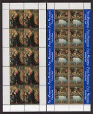 VATICAN CITY 1999 NH 1124-27 Christmas Paintings Sheets of 10 - FreeUSAShipping