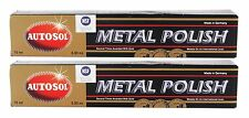 2x AUTOSOL Metal Polish Edel Chromglanz Metall Politur Chrompolitur 75 ml