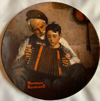 "Norman Rockwell Collector's Plate ""The Music Maker"" 1981 Limited Edition Rare"