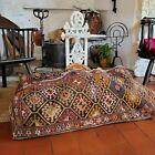A Superb Antique Bedouin Tent Camel Bedding Bag Kilim Rug Cushion Interset